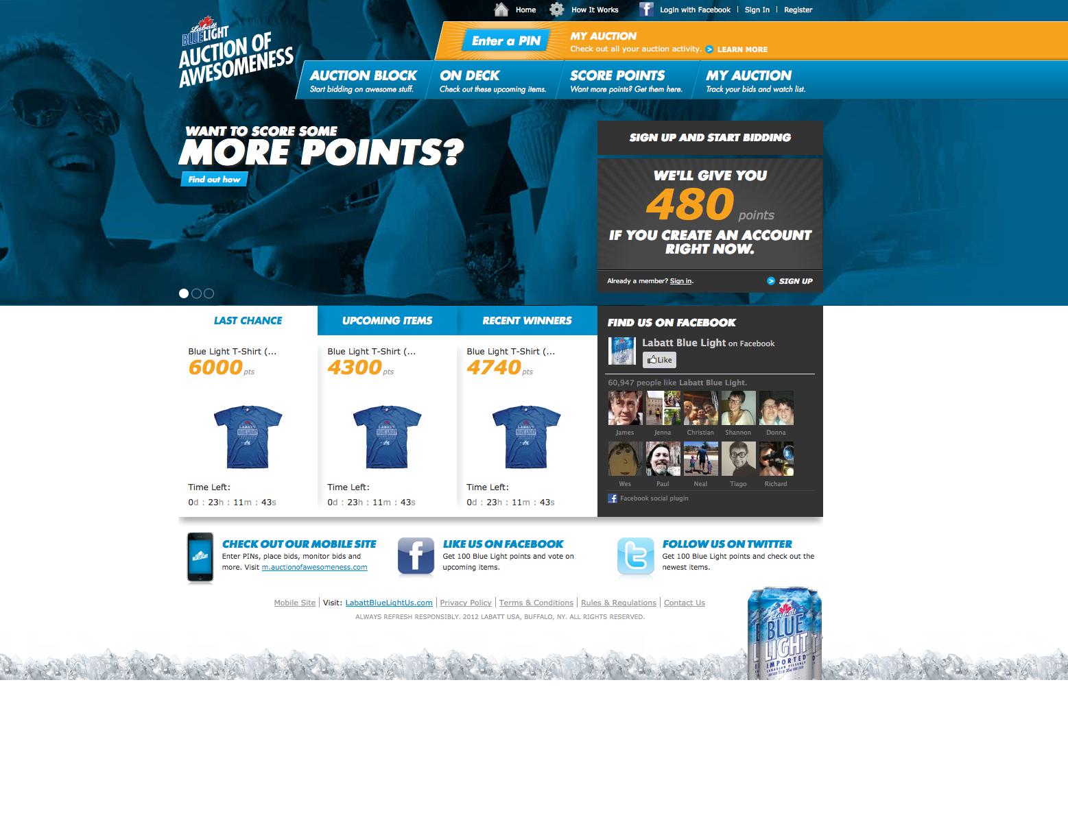 Labatt Blue Light Website Build Wingfield Digital